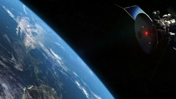satelitní a zemi na oběžné dráze