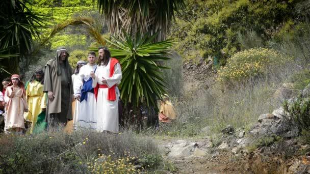 divadelní ztvárnění biblické scény