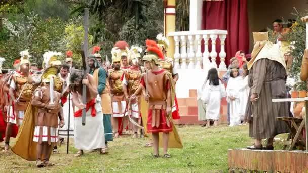 Kristus je šlehačka Kalvárie silnici římští legionáři