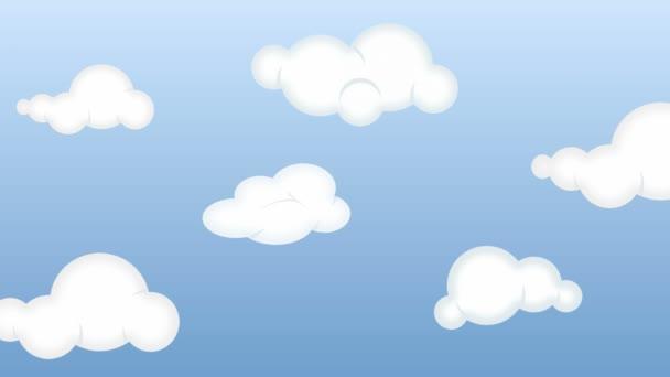 Dibujos Animados De Nubes En El Cielo Vídeos De Stock Ianm36