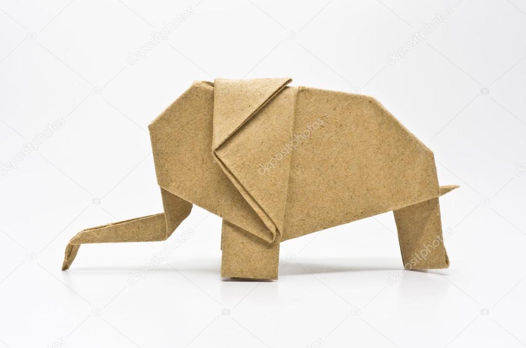 Origami Elephant Stock Photo Nirutdps 29221967