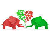 Fotografie Origami elephant of love
