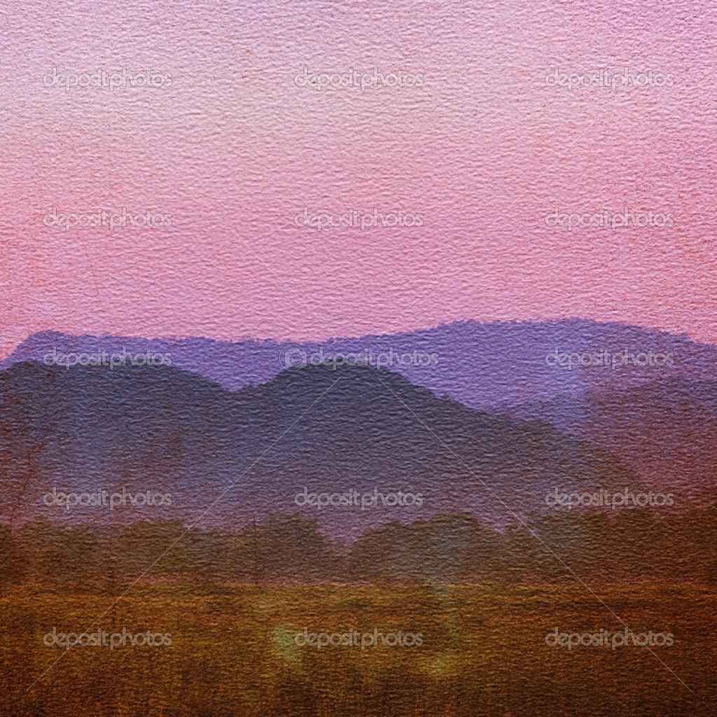 Paper texture  with landscape.