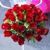 Photo Bouquet red roses