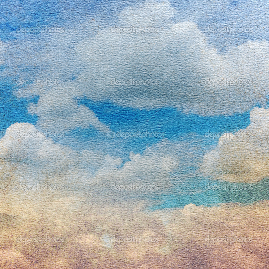 Paper texture with clouds
