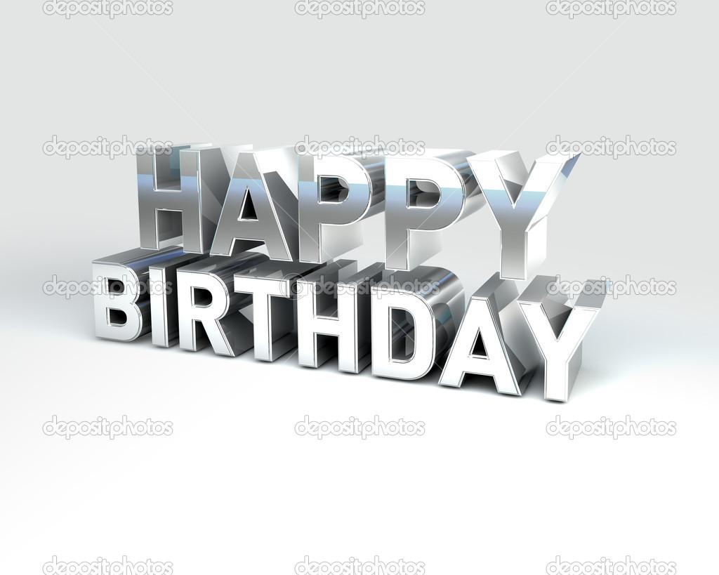Metal Text Happy Birthday Stock Photo 169 Pixeleurope