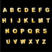 Gold Alphabet 3D Letters