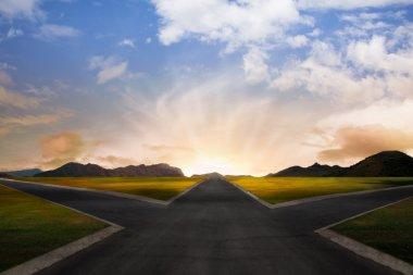 Crossroads representing opportunities stock vector