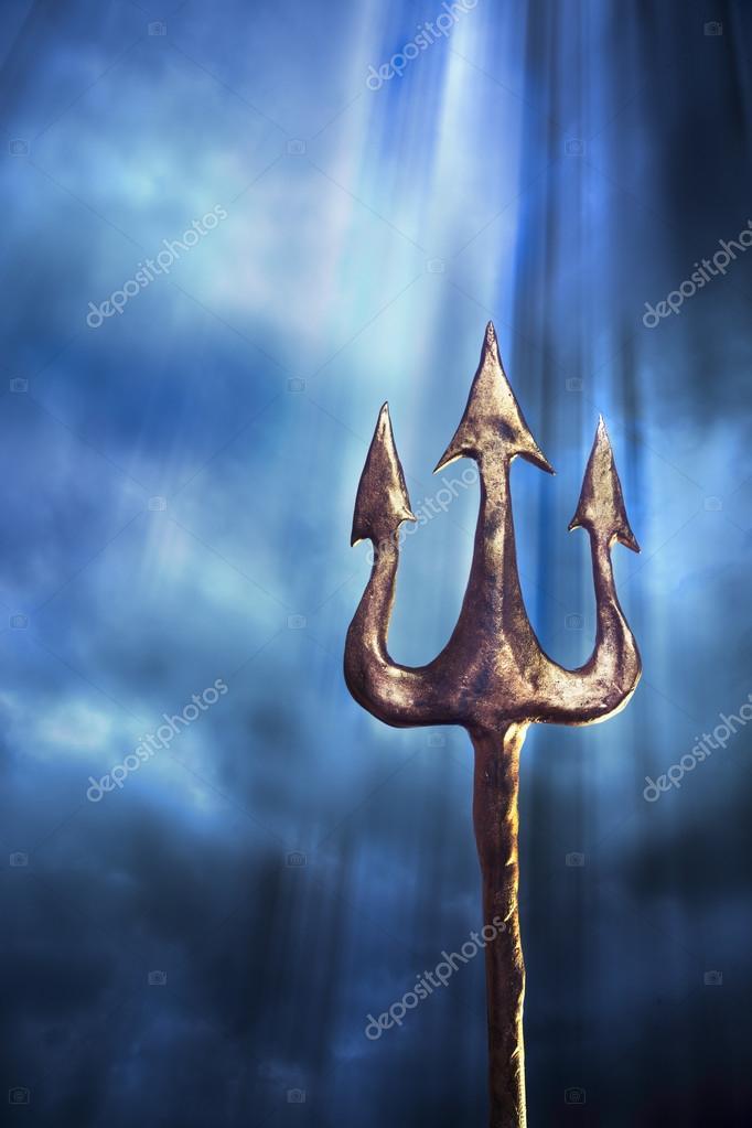 tridente poseidone  Tridente di Poseidone — Foto Stock © fergregory #38079957