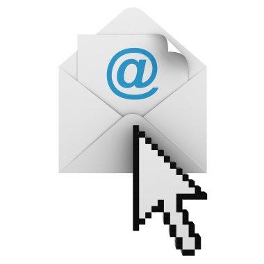 E mail sign with arrow cursor