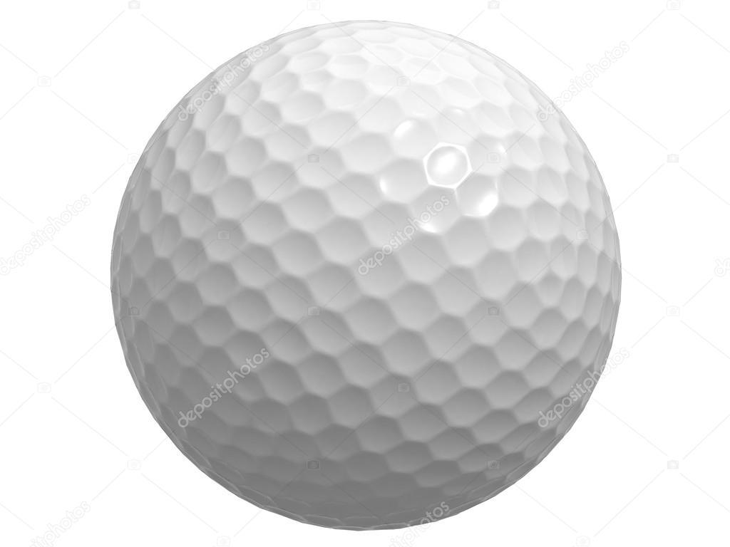 balle de golf isol e sur fond blanc photographie. Black Bedroom Furniture Sets. Home Design Ideas