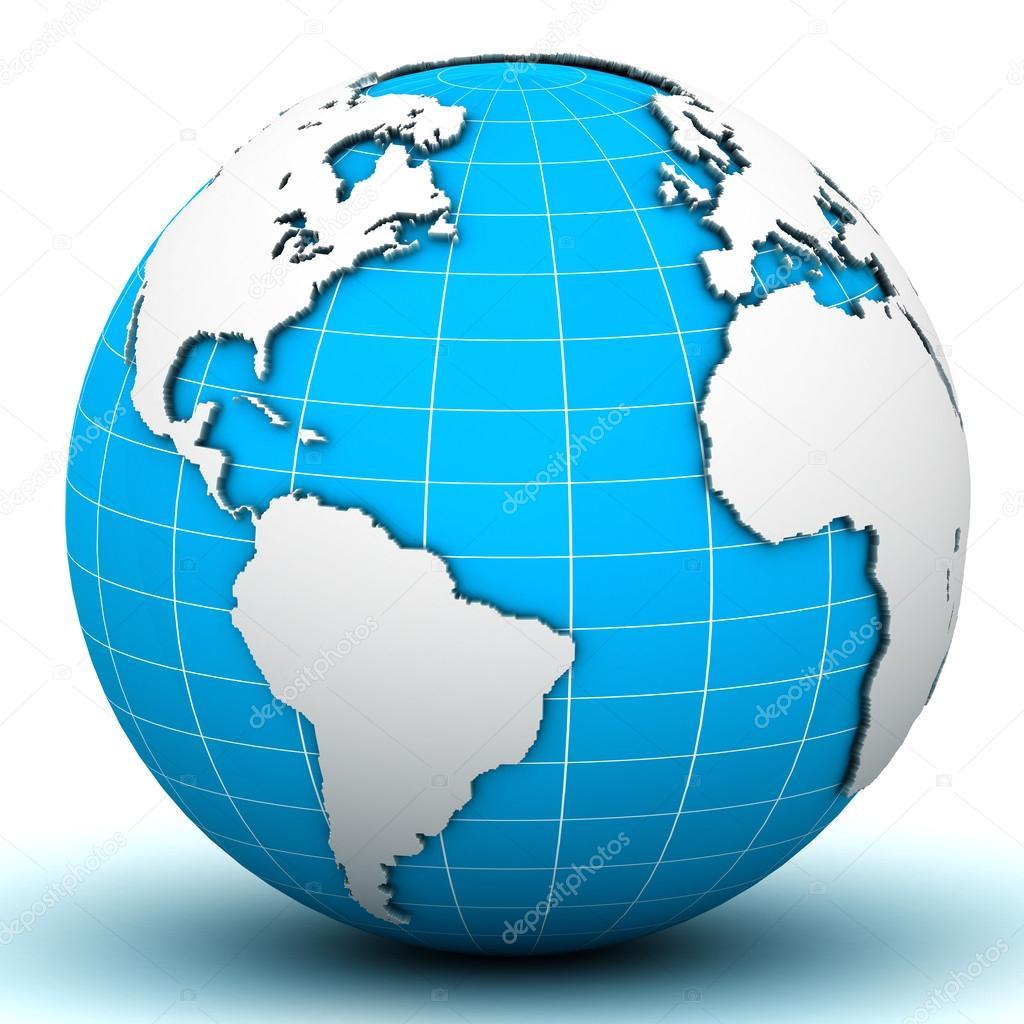 mapa mundi 3d Fondo: mapamundi 3d | mapamundi globo — Foto de stock  mapa mundi 3d
