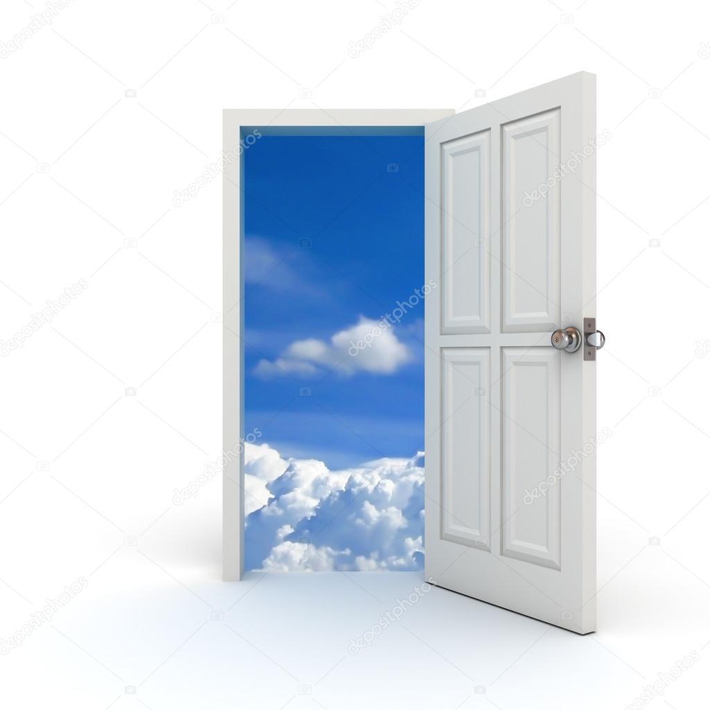 Door open to the sky concept u2014 Stock Photo #12629298  sc 1 st  Depositphotos & Door open to the sky concept u2014 Stock Photo © 3dconceptsman #12629298 pezcame.com