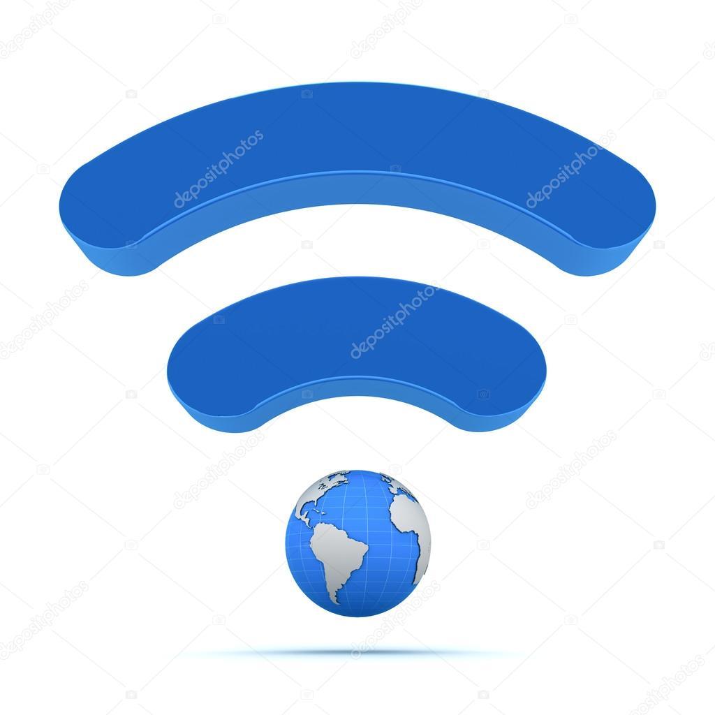 Wifi wireless global technology icon