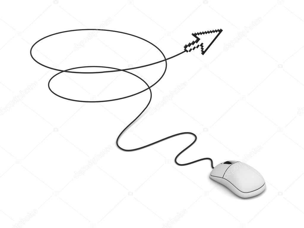 Computer Mouse And Arrow Cursor Stock Photo 3dconceptsman 12629543 Diagram
