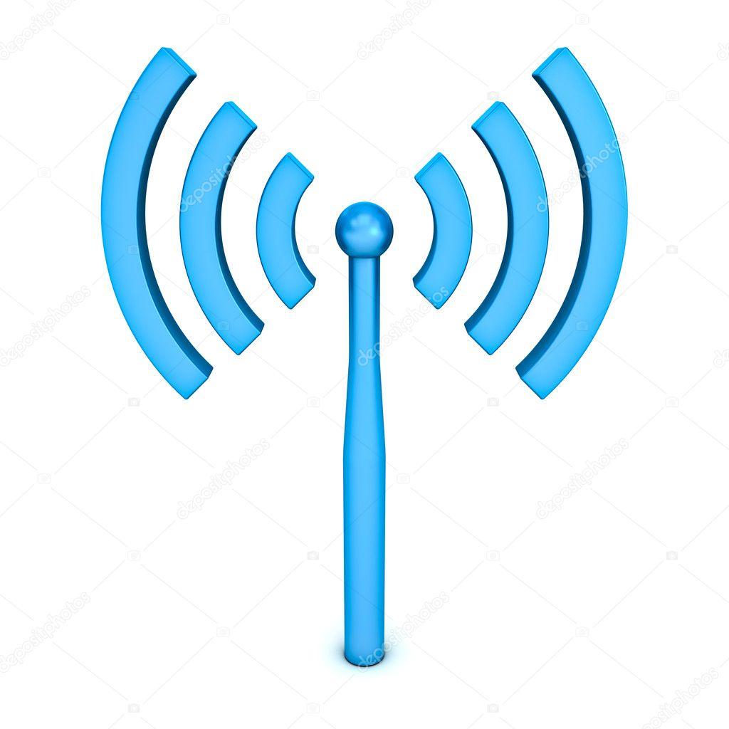 Wifi symbol icon isolated on white background