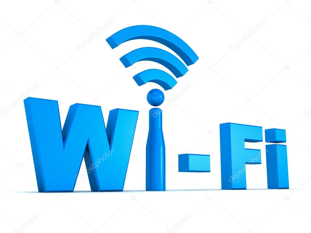 Wifi symbol concept isolated on white background