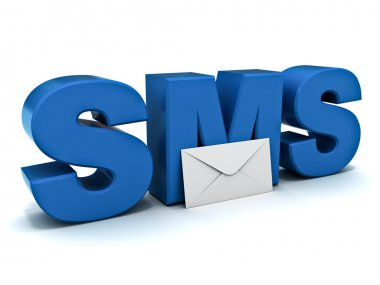 Sms or short message service concept