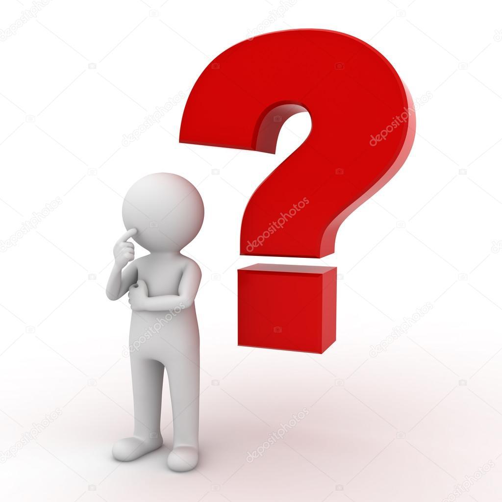 3D Mann mit rote Fragezeichen — Stockfoto © 3dconceptsman ...