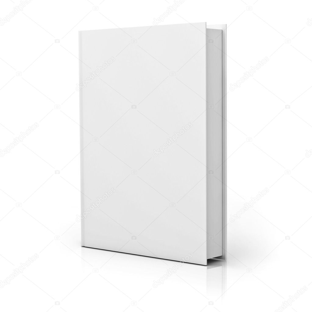 Book Cover White Zinfandel ~ 흰색 위에 빈 책 표지 — 스톡 사진 dconceptsman