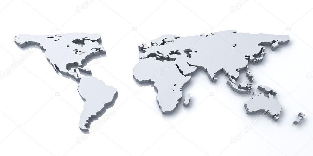 3d world map over white background stock photo 3dconceptsman 3d world map over white background with reflection photo by 3dconceptsman gumiabroncs Choice Image