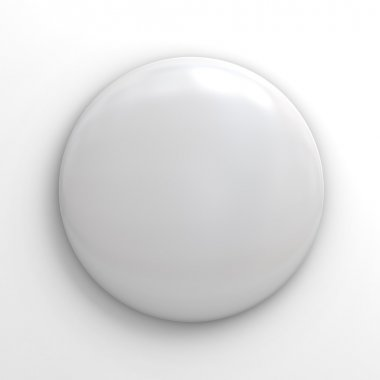 Blank badge button on white
