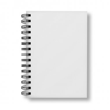 Blank notebook cover isolated over white