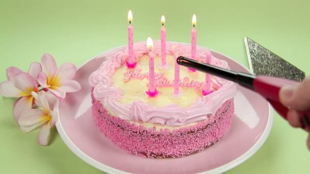 illuminazione candele di compleanno