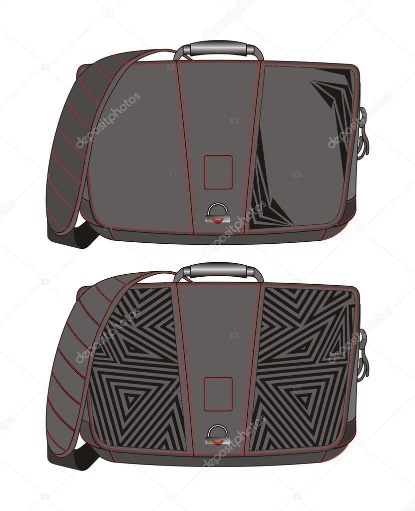 Bag art template line