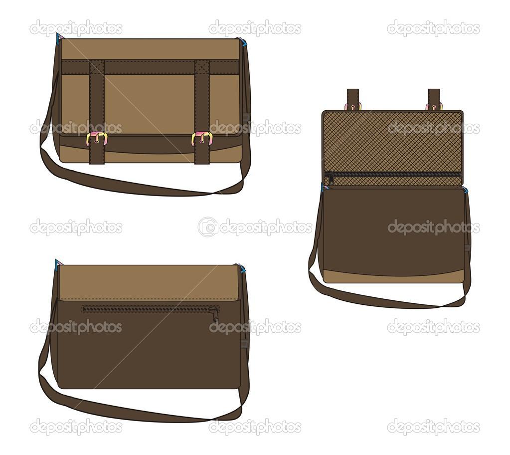 Bag art template three