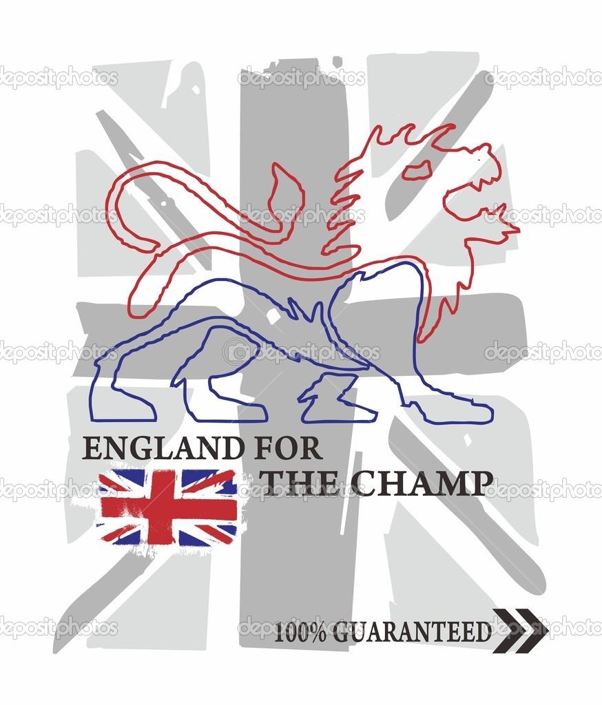 Inglaterra Reino bandera Reino León uno — Foto de stock ...