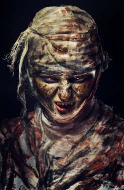 portrait of scary mummy
