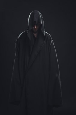 Portrait of man in a black robe