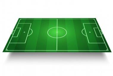Soccer/Football Field vector 3D