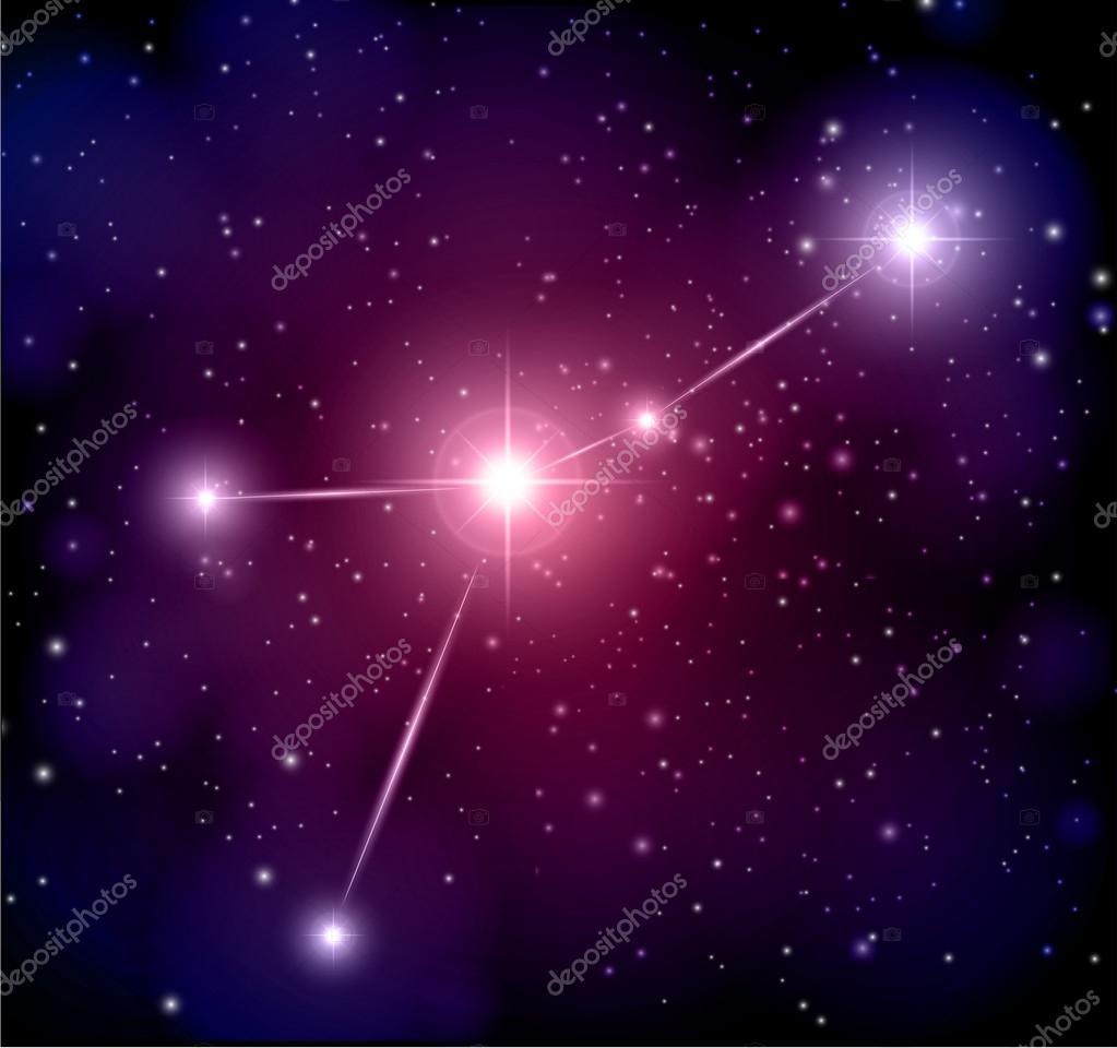 Также оно представляет некий каркас треугольника, а его вершину образуют ряд цепочкообразных звезд.