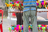 Stall sells a doll animal at thailand