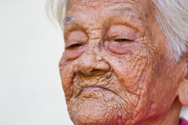 old woman happy ,