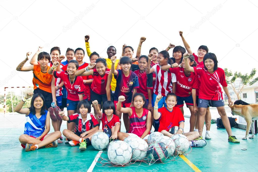 group team footballer youth woman team Chonburi picture