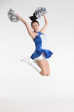 Image of jumping cheerleader