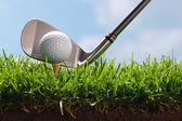 Golf club odpaliště trefit míč