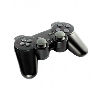 Gaming console on white background with clipping path stock vector