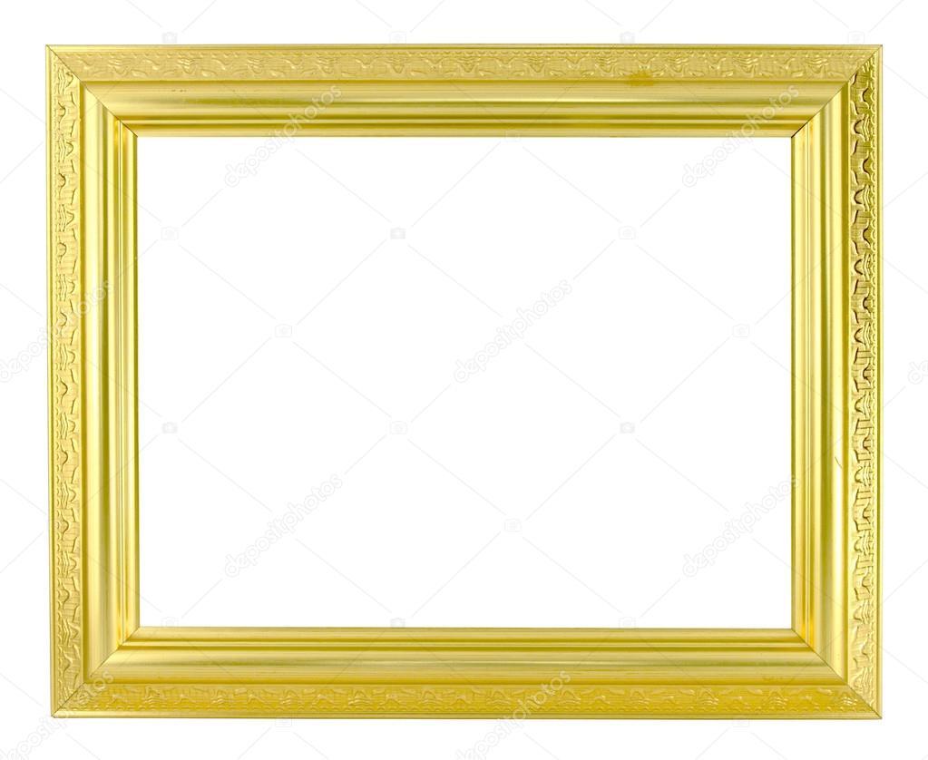 marco dorado sobre fondo blanco — Fotos de Stock © geargodz #26470483