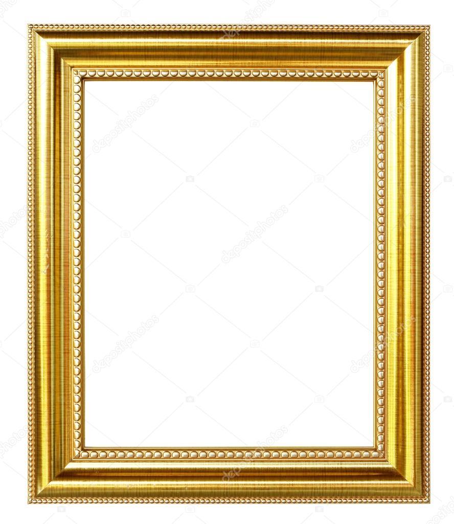 Goldene Bilderrahmen auf weißem Hintergrund — Stockfoto © geargodz ...