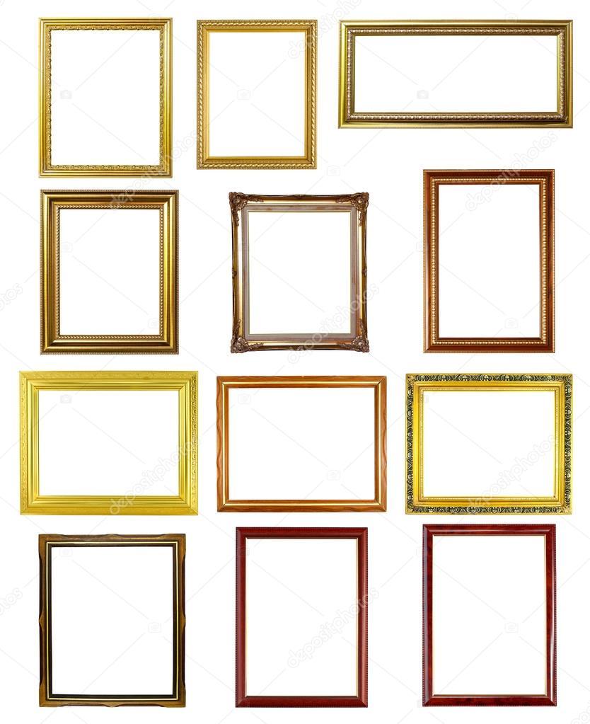 marco de 12 fotos sobre fondo blanco — Foto de stock © geargodz ...
