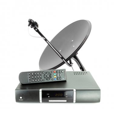 Set of receive box remote and dish antenna