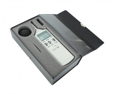 sound level meter in box