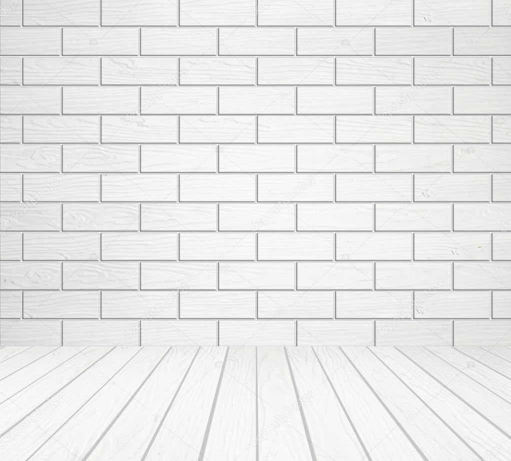 white wood wall block style and wood floor background stock photo 29151073