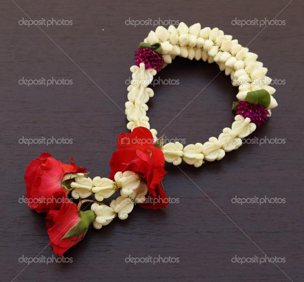 Garland Of Jasmine Flower Stock Photo Geargodz 31202651