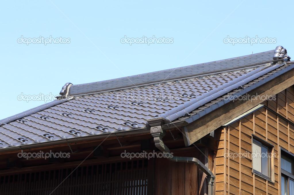 Japanisches Dach dach der traditionell japanischen stil stockfoto geargodz 48344085