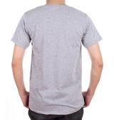 blank t-shirt on man (back side)